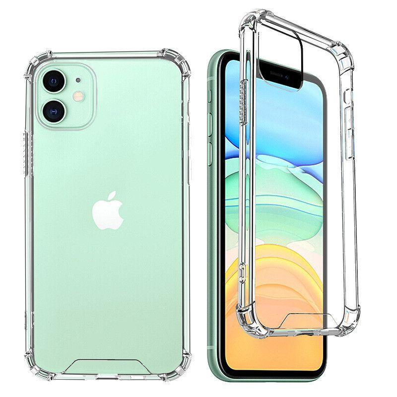 1.5mm 클리어 아크릴 TPU 하드 폰 케이스 아이폰 11 프로 최대 12 미니 XS XR x 6 7 8 Plus SE 삼성 갤럭시 S20 S21 울트라 A12 A52 A72 Z 플립 5G A32 4G 투명 두꺼운 뒷면 커버