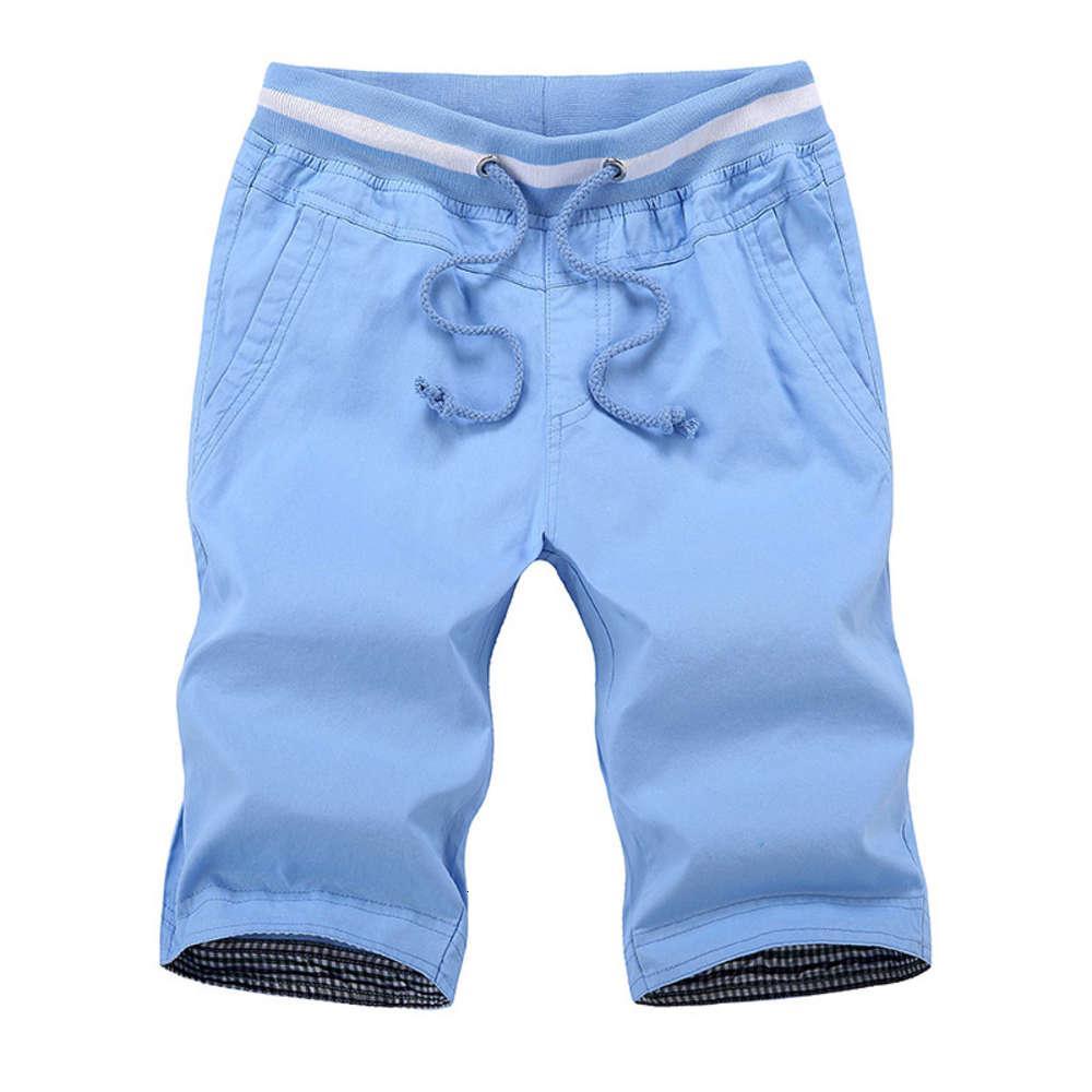 Herren Sommer Shorts Baumwolle Massivfarbe Strand Shorts Männlich Lose Kordelzug Casual Sports Shorts Asiatische Größe M-4XL