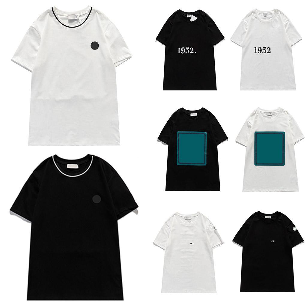 Women Fashion T Shirt Man Short Sleeve Summer Hip Hop Style Casual Top O Neck High Quality Tees Letter Print Black White 2021