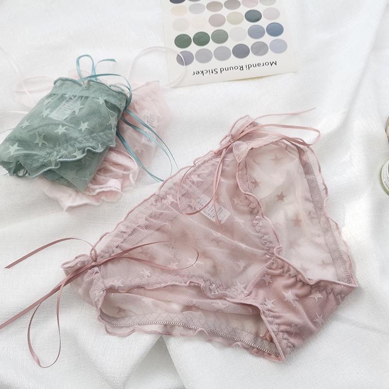 Ins new mesh дышащая сексуальная розовая кружева ee мультфильм звездная девушка цвет контрастности