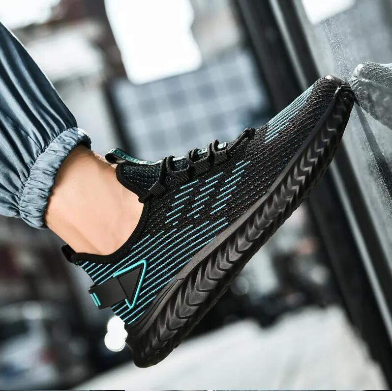 DEE182 Moda Tasarımcısı Sneakers Ayakkabı Nefes Deri Yüzey Yüksek Kaliteli Örgü Erkekler Indirim Eğitmen Rahat Yürüyüş Beyaz Siyah EU39-44