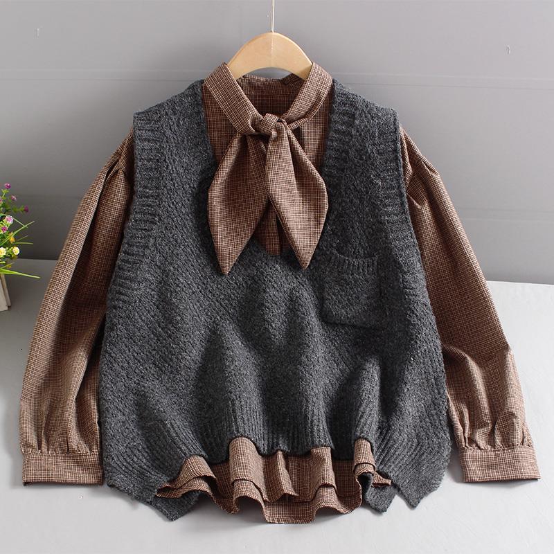Sujetadores para mujer Suéteres al aire libre Primavera y suéter de otoño Nuevo chaleco de chaleco Universidad de moda ocio algodón tejido tejido