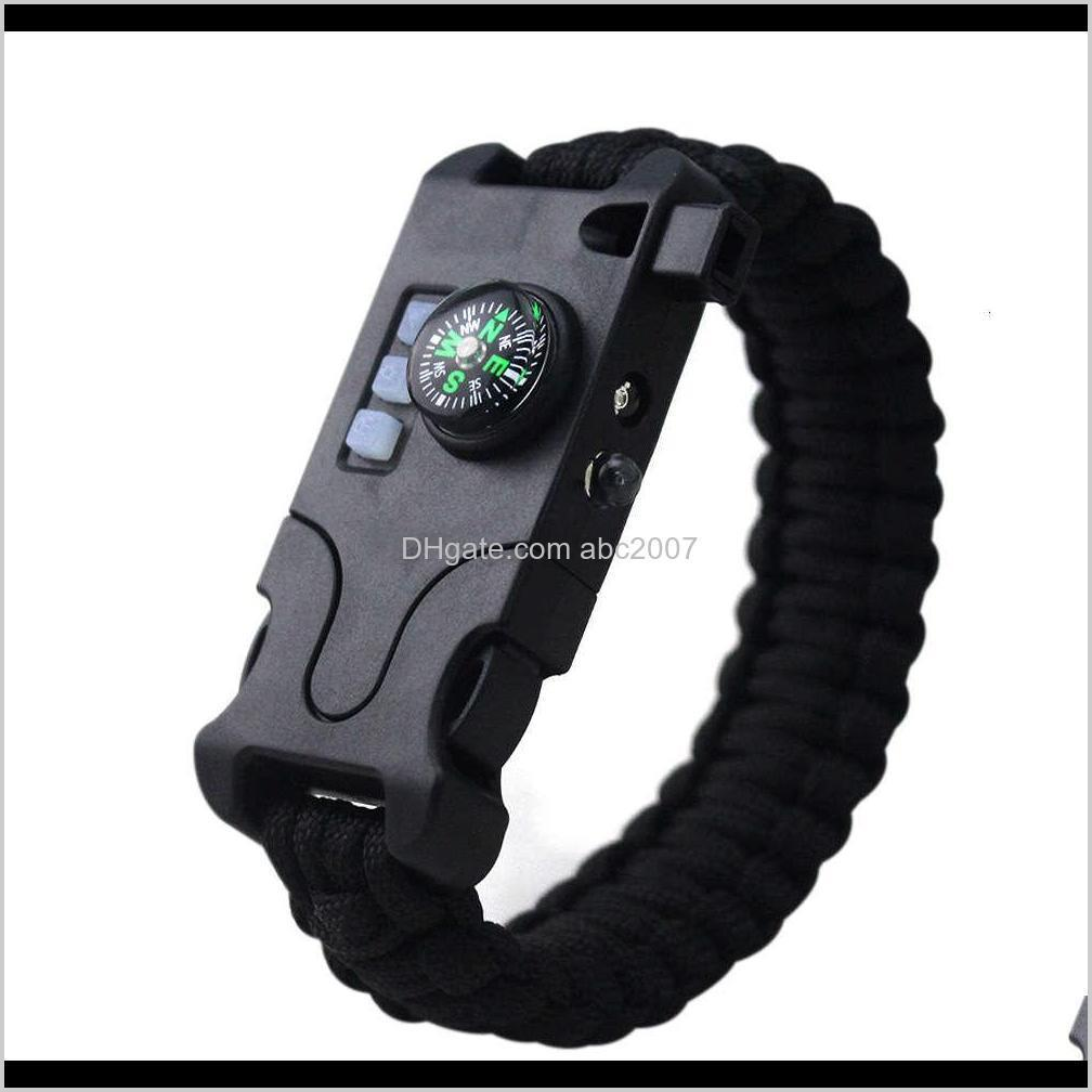 Bracelets And Hiking Sports & Outdoors Drop Delivery 2021 Outdoor Camping Lamp Laser Sos Umbrella Rope Multifunctional Flashlight Emergency S