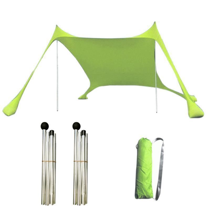 Canopy UV Block Gazebo Tent Beach Patio Patio Jardín al aire libre Portátil A prueba de viento Anti-UV Toldo tostado y refugios