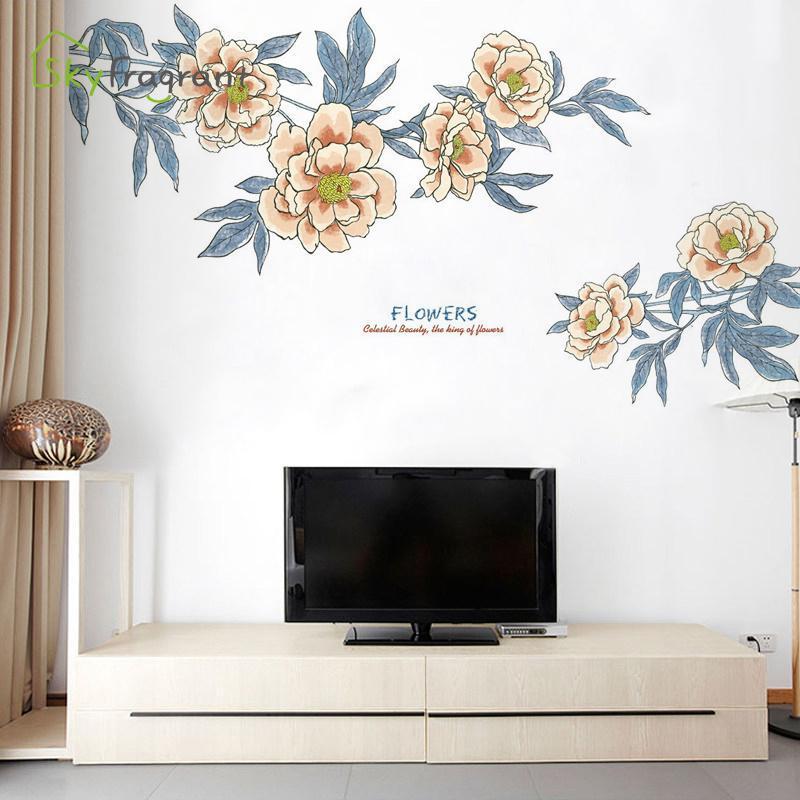 Wandaufkleber Kreative Pflanze Blume Home Dekorationen Wohnzimmer Schlafzimmer TV Hintergrund Dekoration Selbstkleber