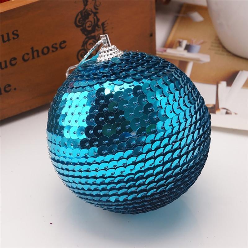 Decoração do partido Natal strass glitter baubles bola de natal ornamento de árvore 8cm kerstballen bombki choinkwowe # 3o11