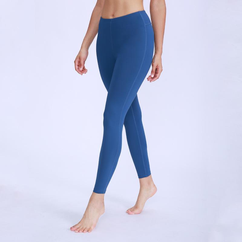 Подсикал сплошной цвет женские йоги формированные брюки с высокой талией спортивный тренажерный зал носить леггинсы упругие фитнес леди общие полные колготки брюки