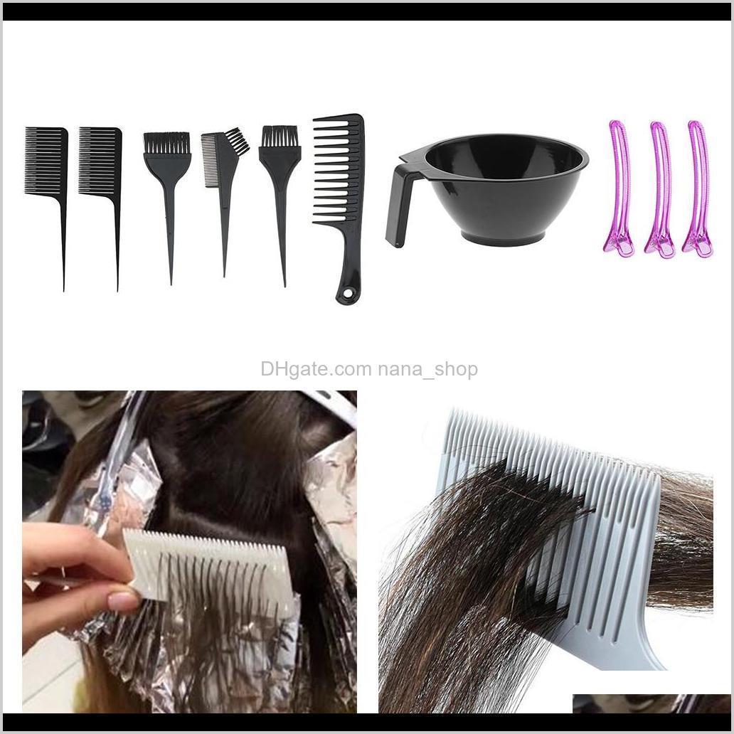 Цвета салон волос окраска окрашивания оттенок инструменты смешивая чаша кисть набор для парикмахерской XRQ4J 8V0HY
