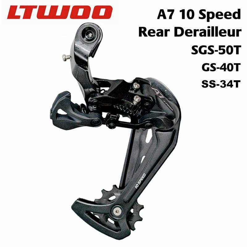 دراجة Derailleurs LTWOO A7 10 سرعة Derailleur Derailleur الاتصال الهاتفي MTB، SGS قفص طويل ل 50 طن كاسيت، GS متوسطة 40T، SS قصيرة 34T، Deore متوافق