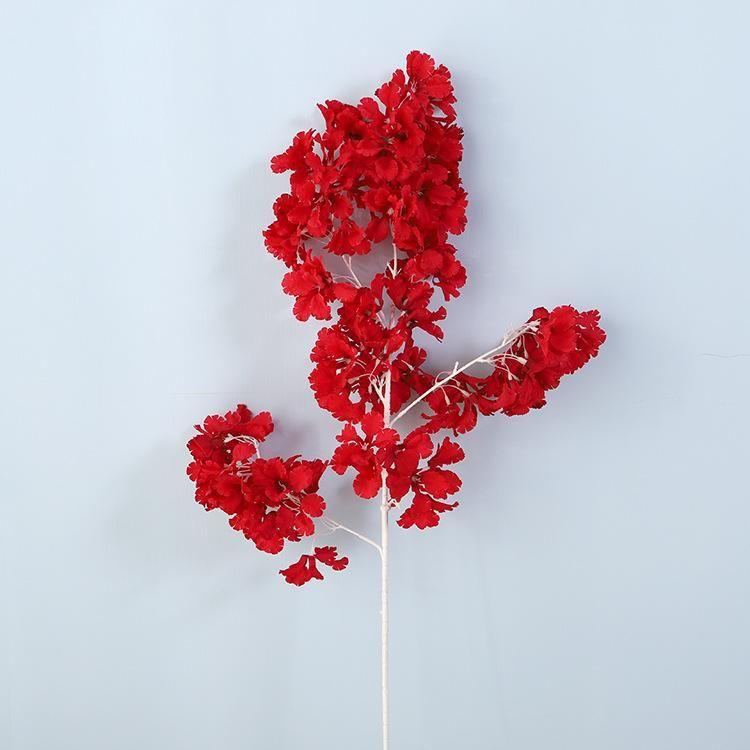 Dekoratif Çiçekler Çelenk Yapay Kiraz Çiçekleri Şifreli Sahte Düğün Peyzaj Dekorasyon Ipek