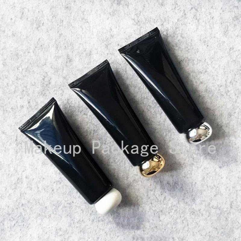 Lagerflaschen Gläser 100ml Kunststoff Schwarz Sahne Flasche 100g Make-up Kosmetische Hautpflegelotion Tube Butterkäse Verpackungsbehälter