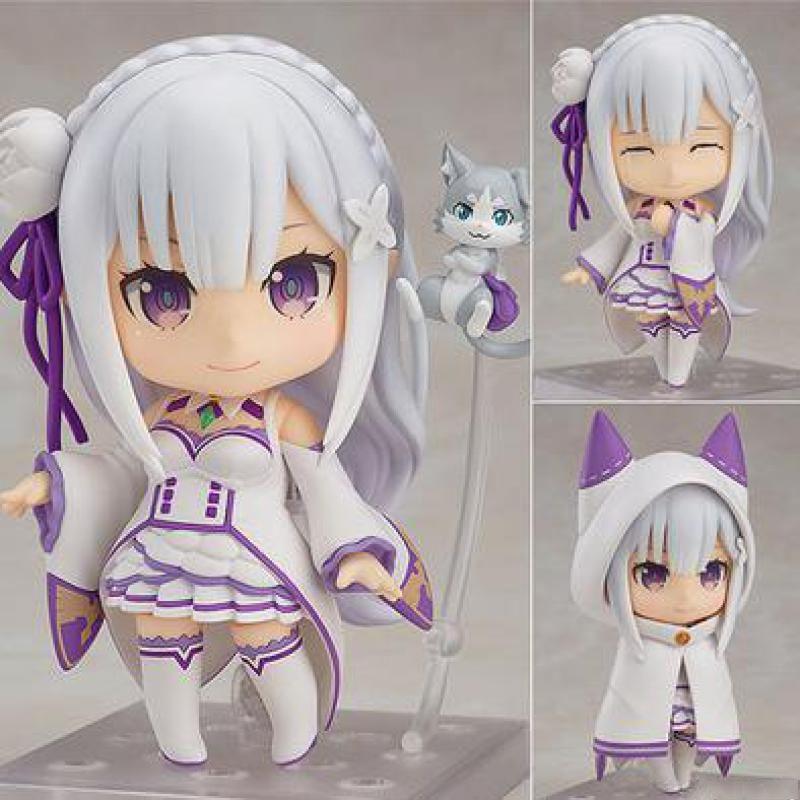 Hot Anime Q Version Re Zero Vida em um mundo diferente Emilia modelo de ação ação brinquedos colecionáveis pop it brinquedo para crianças presente x0503