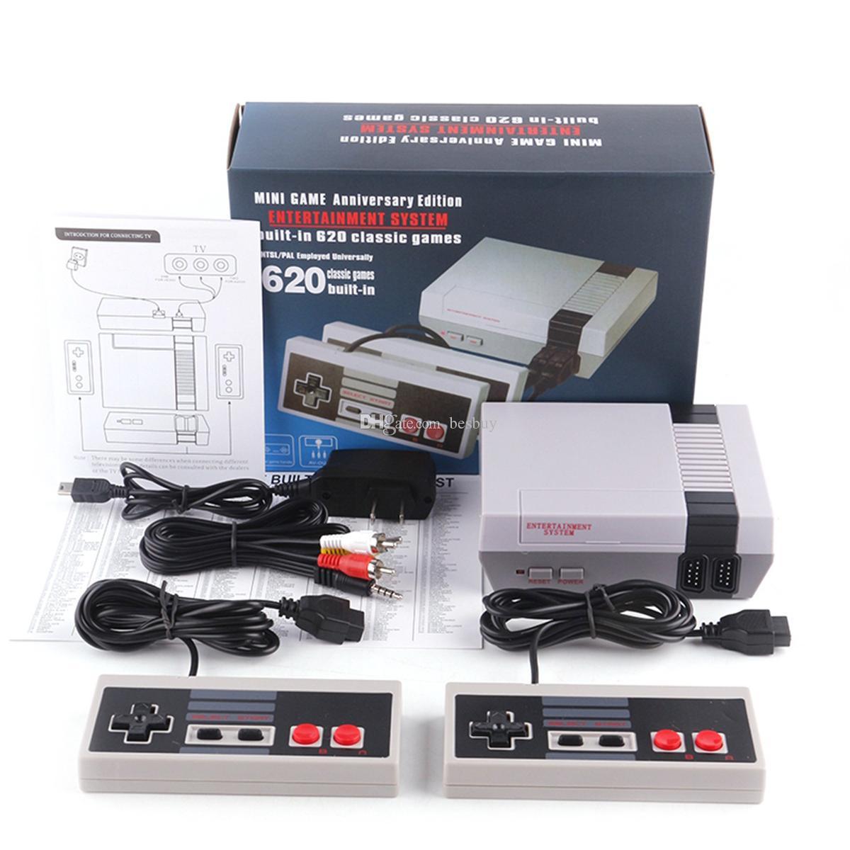 Mini Av TV Video Game Console Controller 8 Bit Entertainment System Handheld 2 Player per NES 620 500 Giochi Console Controller Regali per bambini