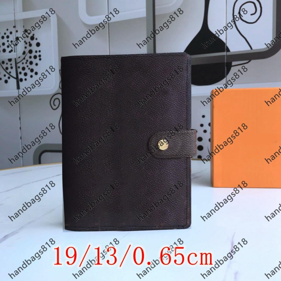 Agenda Notebook Mens Plaid Credit SlipCases Titulaire de cartes Voyageur Journal Vintage Sketchbook Fournitures d'école Homme Rétro Trend Tendance Iconique Brown