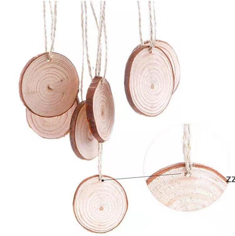 """Pine wood slices 3 1/2"""" round wooden DIY crafts wedding Christmas ornaments coasters dried 2/5"""" thick blank unfinished HWD10420"""