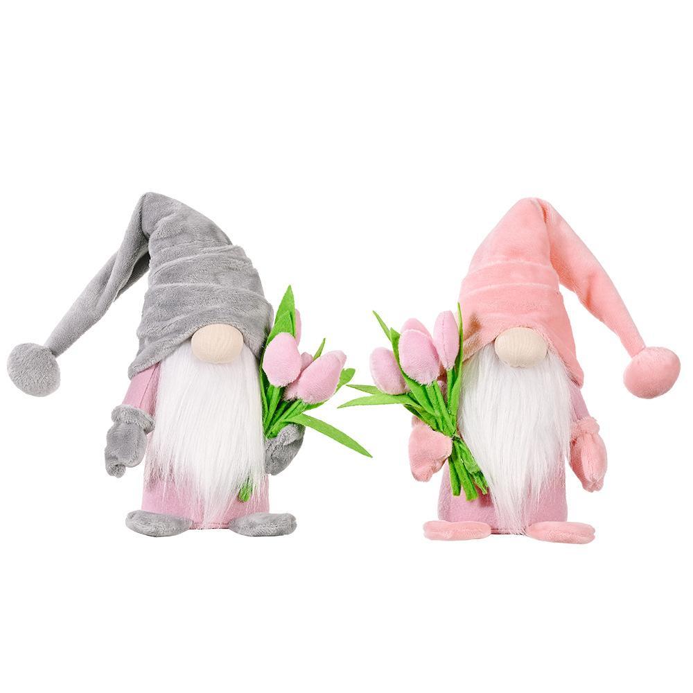 Anneler Günü Dolması Hayvanlar Cüce Elf Lale Bebek Sevimli Sivri Şapka Peluş Oyuncaklar Dekorasyon Karikatür Ev Dekorasyonu Öğeleri Hediyeler Z2914