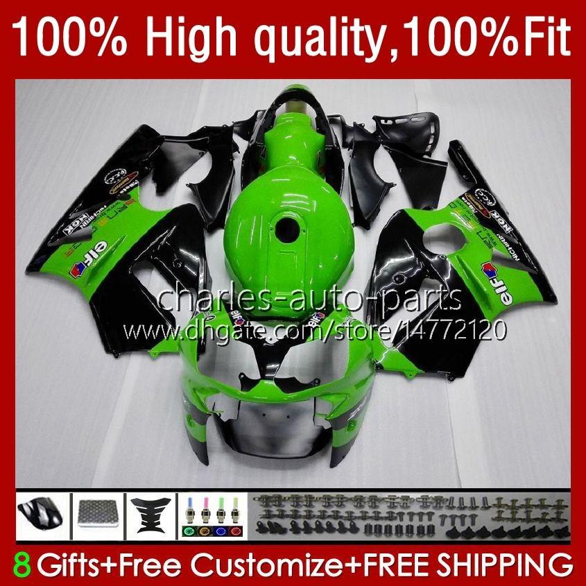 8Regalos 23Colores para KAWASAKI NINJA ZX 12 R ZX12R 03 04 05 06 52HM3 Verde negro ZX1200 C ZX 1200 ZX 12R ZX-12R 2003 2004 2005 2006 Carenado