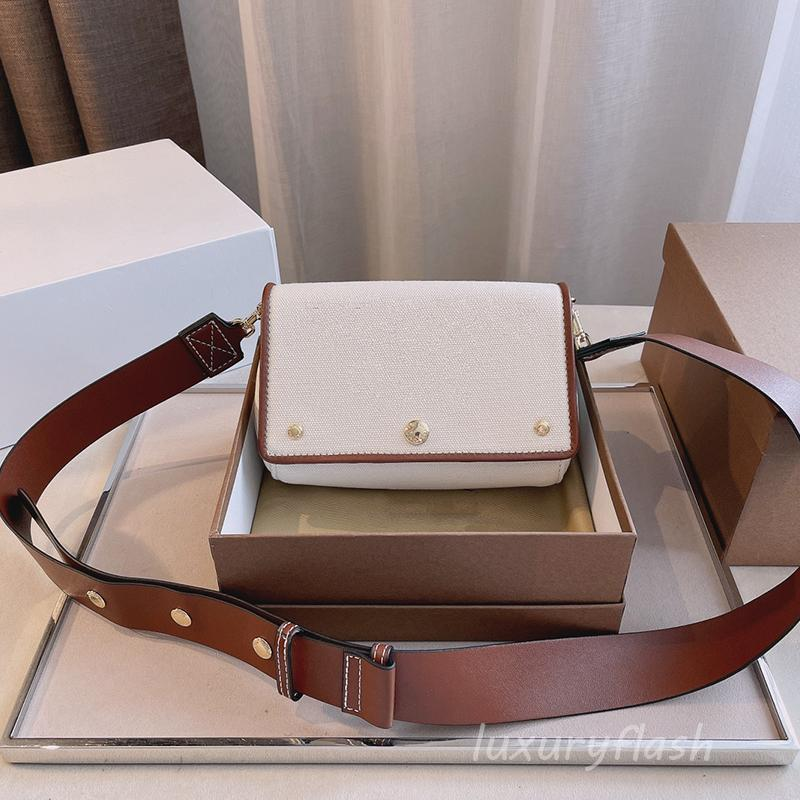 2021 Последний холст сумка мода повседневная площадь прочные скрещивания сумки высокого качества кожаный дизайнер роскошь бренды широкий плечевой ремень кошелек