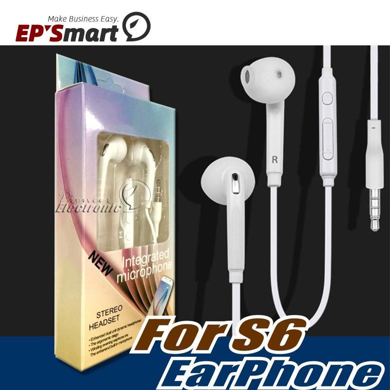 삼성 갤럭시 S21 NOTE20 S20 울트라 S6 S7 이어폰 이어폰 헤드폰 이어폰 iPhone12 11 헤드셋 잭 EAR 유선 마이크 볼륨 컨트롤 3.5mm 흰색 소매 상자