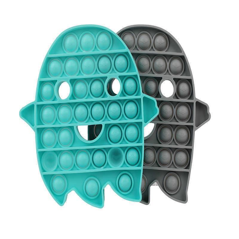 Holloween Ghost Gray Mat Bubble Bubble Poppers Board Push Pop Fidget Toys Tik Tok 2021 Hallowmas Niños Niños Desktop Finger Puzzle Stress Relief Toy G72P83Z