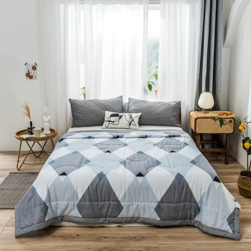 Peter Khanun Summer Soft Breathable Blanket Skin-friendly Double Side Printed Cool Quilt King Queen Size Thin Comforters & Sets