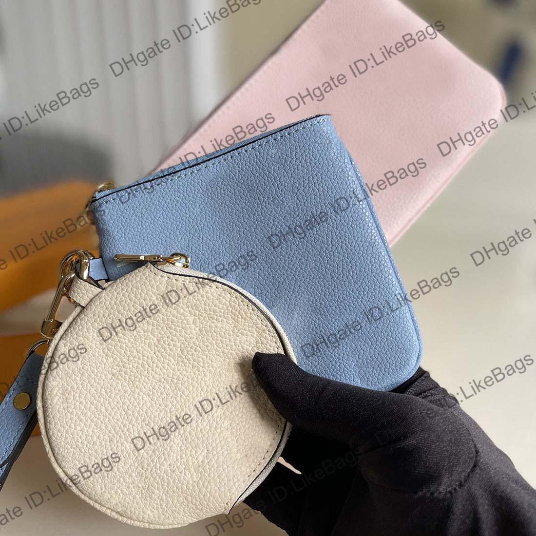 Diseñadores de lujos bolsas de hombro bolsos bolsos monogramas empreinte cuero gradiente impresión cartera embrague de tres piezas combinación picochette felicie cruz cuerpo
