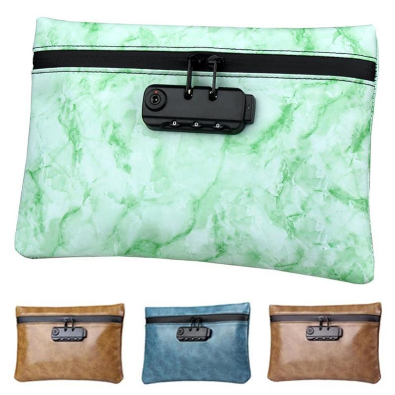 Duffel Bags Portable Travel Activated Carbon Coded Lock Smell Proof Tobacco Bag Storage Case