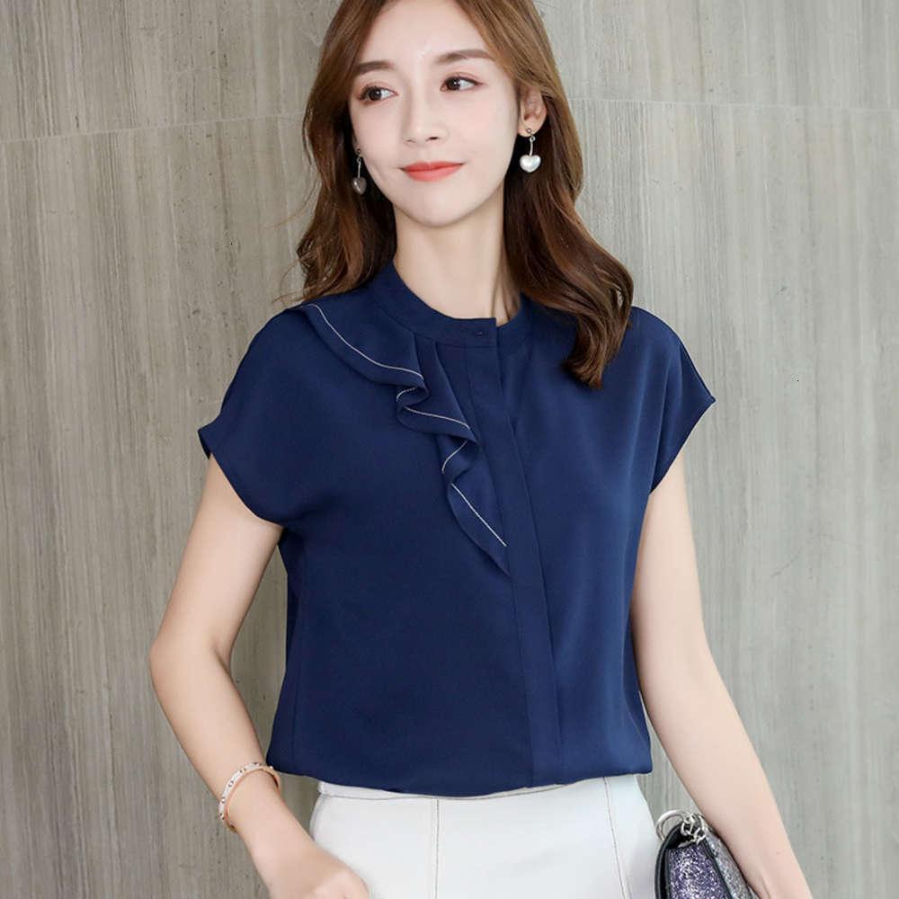 2020 neue koreanische mode vielseitige sommerkleid frauen schlank chiffon shirt