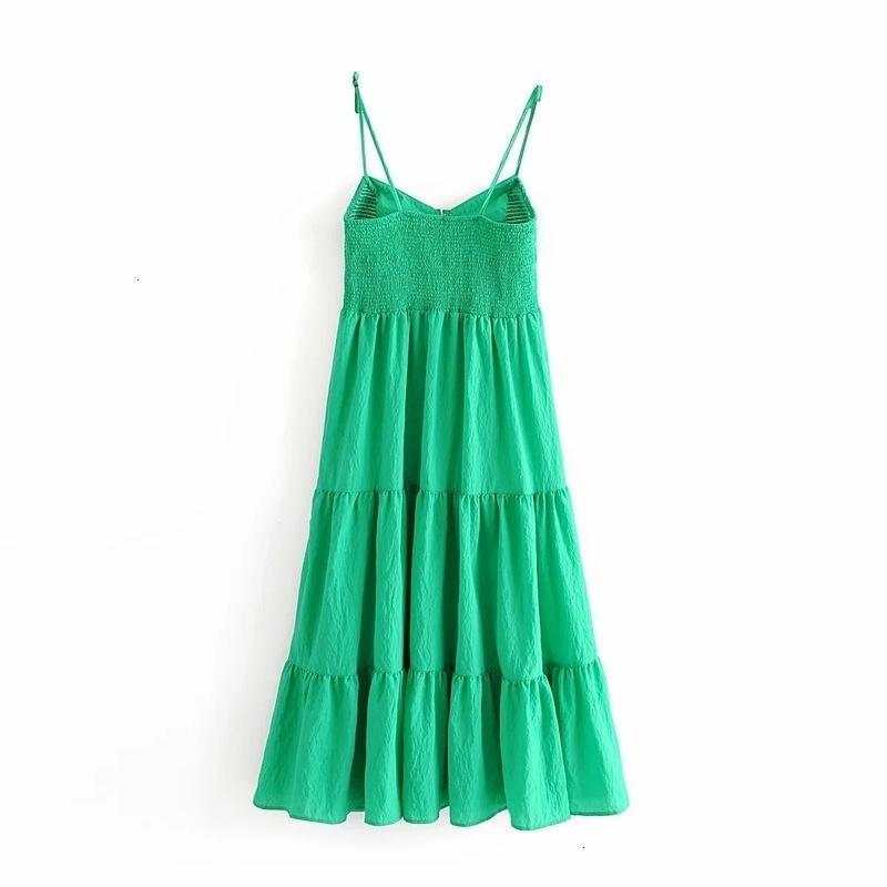 Stil Sommer Casual Kleider Mode Vielseitige Show Dünnschicht Kleid 3564065A