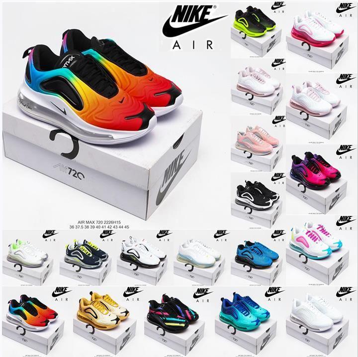 Nike Air Max 720 Correndo Tênis de Top Quality Bubble Pack MX 720-818 Almofadas para Homens Mulheres Oreo Amarelo Acentos Black Grey Seja Verdadeiro Airmax 720s Treinadores Sneakers