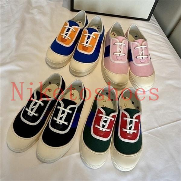 Kids Canvas Skate Shoe Italy Beige Pink Slip-On Lace-Up Zapatos de ocio 2021 Tennis Designer Sneaker Runner Ace Mujeres encantadoras deportivas zapatillas deportivas