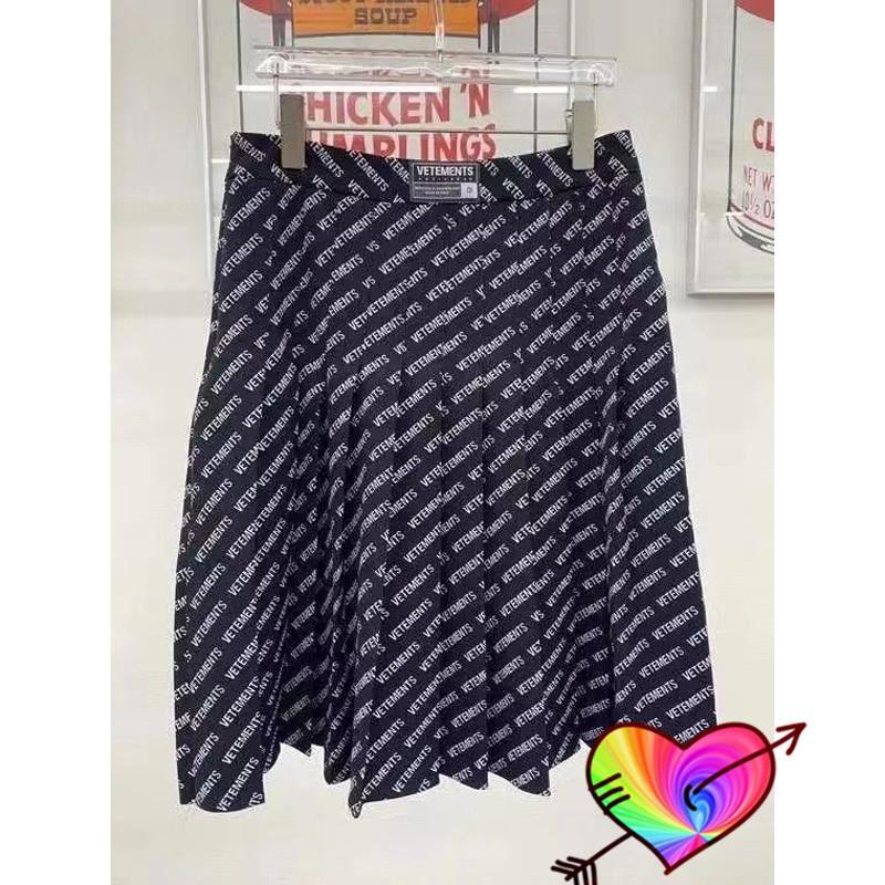 Black 2021 Skirt Men Women High Quality Skirts Allover Letters Waist Asian Size