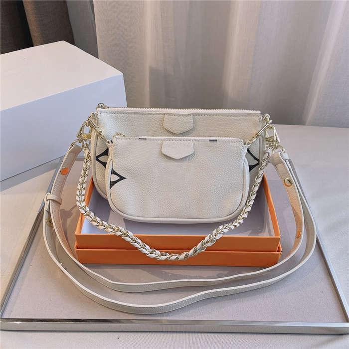 Frauen Crossbody Taschen 3PC Brief geprägte Umhängetaschen Designer Mode Handtasche Hohe Qualität Multicolors Handtaschen