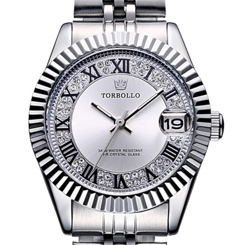 Saatı Yüksek Kalite Moda Kadınlar İzle Su Geçirmez Çelik Sapanlar Kuvars Hareketi Gümüş Beyaz Bayan Saati