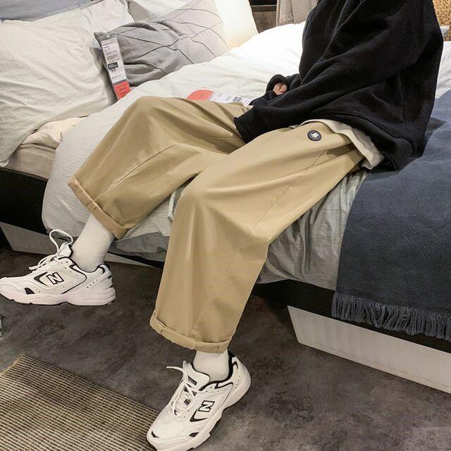 Bahar Harajuku Stil Pantolon erkek Kore Trend Çok Yönlü Rahat Moda Marka Hong Kong Gevşek Tulum