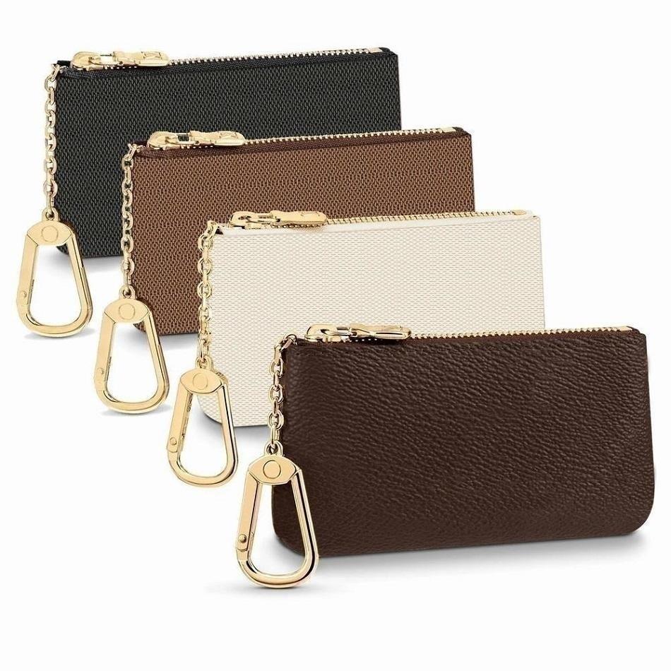 5 cor tecla bolsa Damier couro tem alta qualidade moda clássica mulheres titular chave moeda bolsa de couro pequena chaveiros