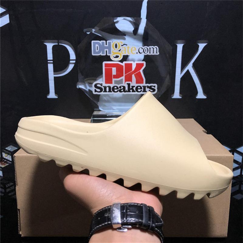 أعلى جودة باريس أزياء رجالي المرأة مصمم شبشب صندل أحذية الصيف المطاط الصنادل الشاطئ الشريحة الموضات أشقر النعال حجم داخلي مع مربع 36-45