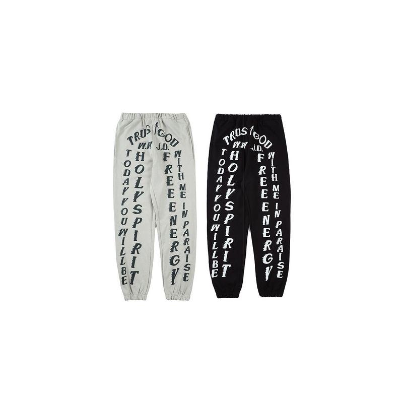 2021 Kanye West Temporada confianza Dios Impreso Mujeres Casual Joggers Hiphop Streetwear Hombres Sweetpants Jogger Pantalones Pantalones Pantalones