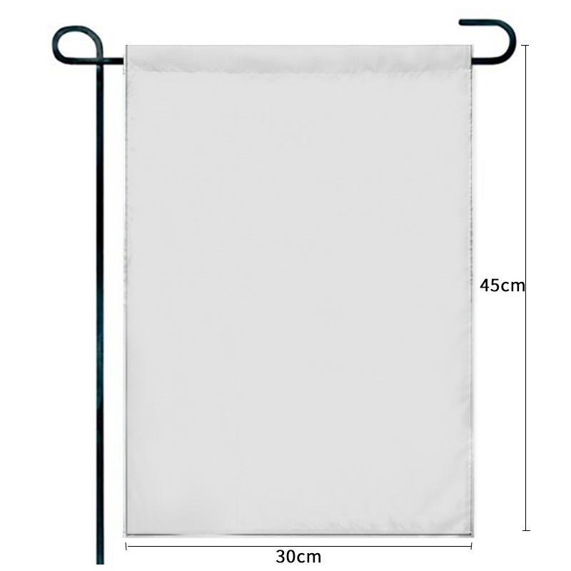 Drapeau de jardin de sublimation vierge 100% polyester 3 couches bannières blanches drapeaux triple plis avec trofre noir Trafier Trafier Trafier double côtés d'impression Bannières 30 * 45cm