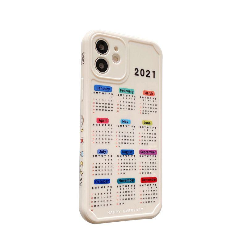 2021 calendario DATA CASSE PER CELLUPPO PER IPHONE X XR XS 11 12 PRO MAX 7 8 PLUS COPERTURA TPU soft TPU
