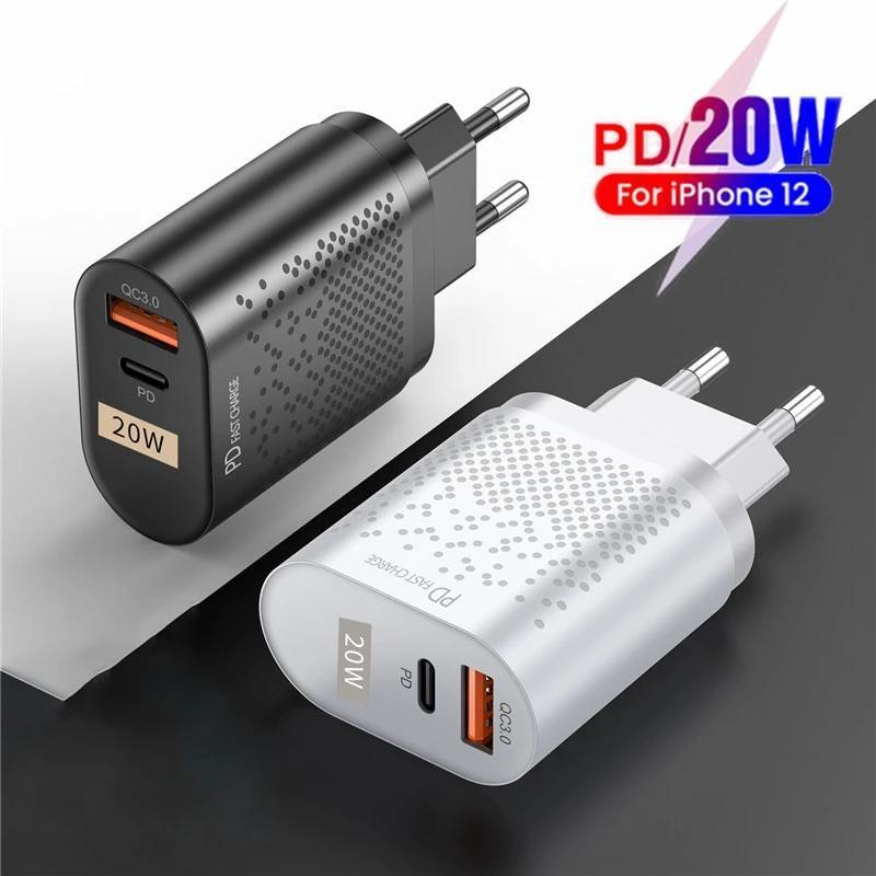 20W быстрый USB-зарядное устройство адаптер типа C PD Быстрая зарядка для iPhone Samsung Xiaomi EU UU US US US UW US UK PLUS с QC 3.0