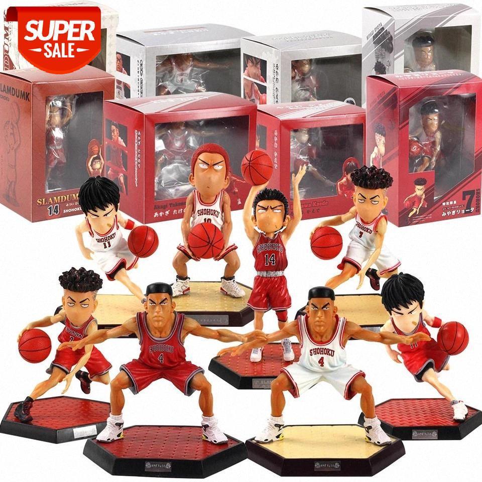 Slam Dunk Action Figurines Hanamichi Sakuragi Rukawa Kaede Akagi Dryagi Miyagi Ryota Ryota Shohoku Basketball Player Modèle Jouets # 1Z0Y