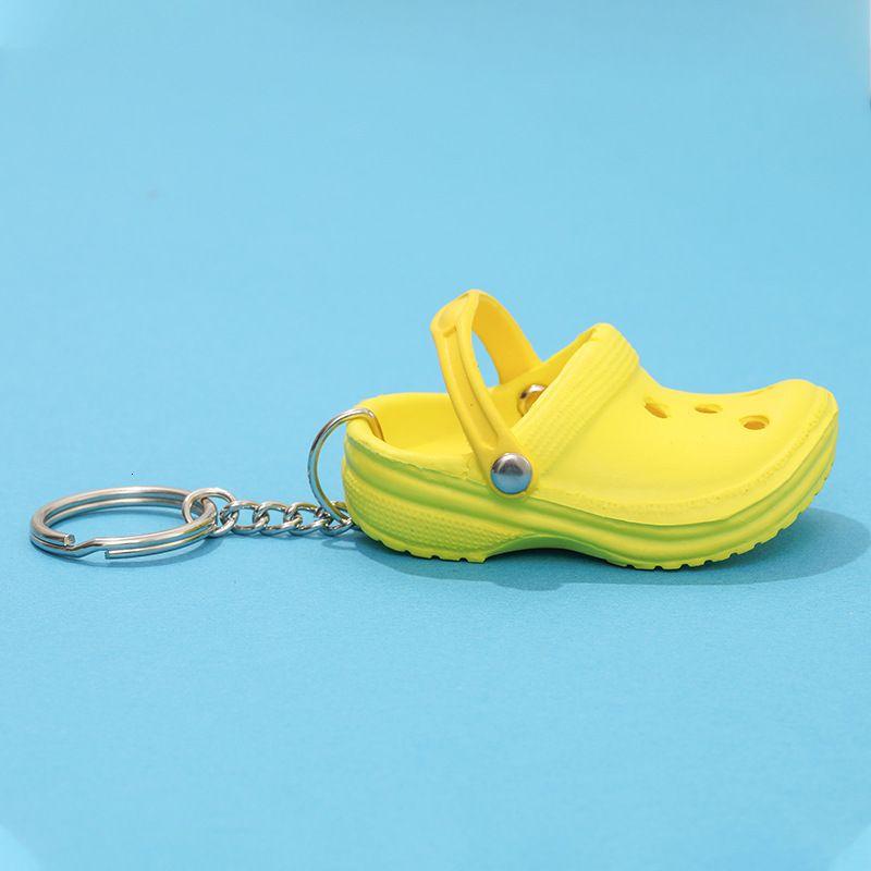 Portachiavi 1 PZ 3D Mini 7,5 cm EVA Beach Hole Little Croc Shoe Portachiavi Portachiavi Borsa Accessori Decorazione Portachiavi Portachiavi Auto Borsa a catena chiave Charms