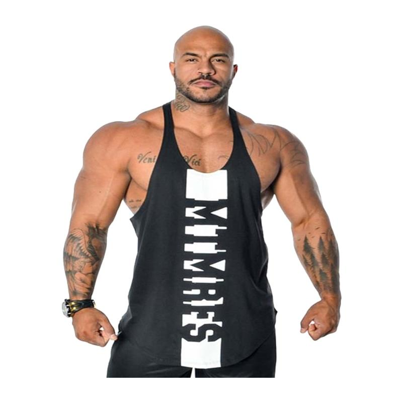 New Fitness Roupas Ginásio Mens Treino Tanque Tops Elastique Musculante Sportswear Camisa Algodão Sem Mangas Vest Tops Homens Casual 210408