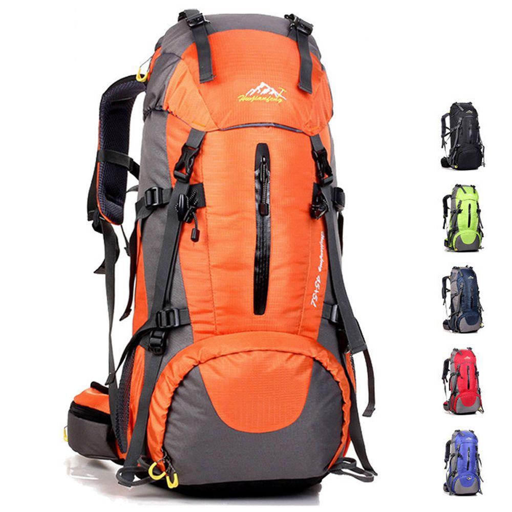 كبير 60l كبيرة ظهره حقيبة تسلق حقيبة للماء التخييم تسلق الجبال التنزه الرحلات الظهر الرواط رخوة الرياضة حقيبة الظهر