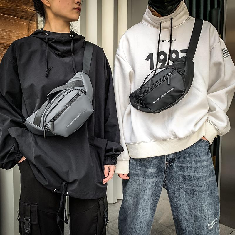 Koreanische Mode Brusttasche 2021 Trend Eine Schulter Messenger Outdoor Sports Taille Männer Sack Bandouliere Homme Fanny Pack Taschen