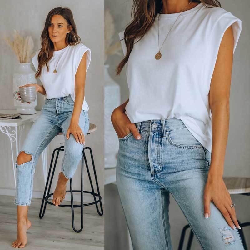 INSPIRED cotton t-shirts for women white cotton graphic tees women oversized Boyfriend Tee Rock summer top new t shirt 210412