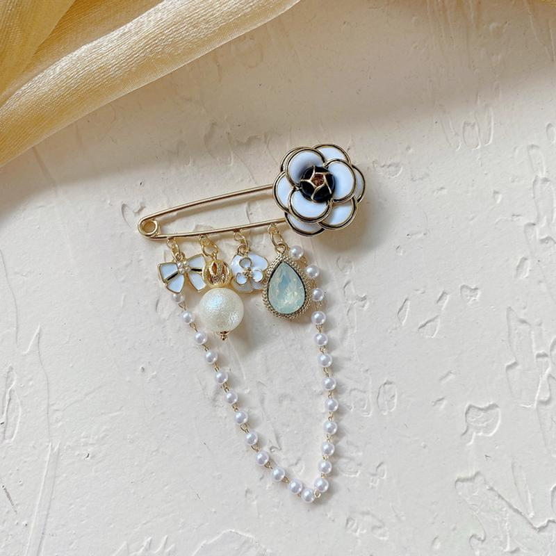 Frauen Mädchen Camellia Perle Quaste Brosche Anzug Revers Pin Für Geschenk Party Modeschmuck Zubehör 4 Arten