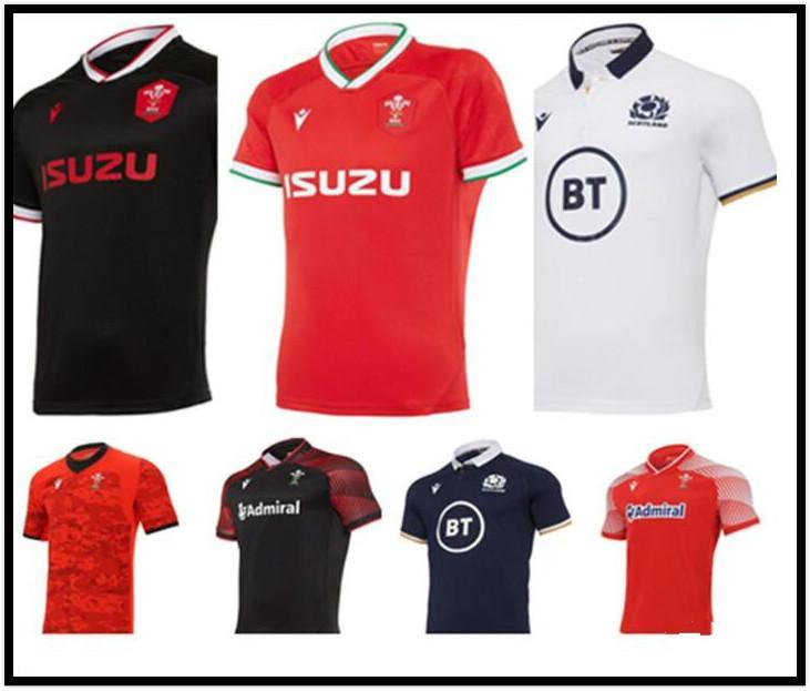 Großhandel 2021 Wales Schottland Rugby Jersey 20 21 Home Away Welsh Scottish Shirt MAILLOT CAMISeta MAILTIA Größe S-5X