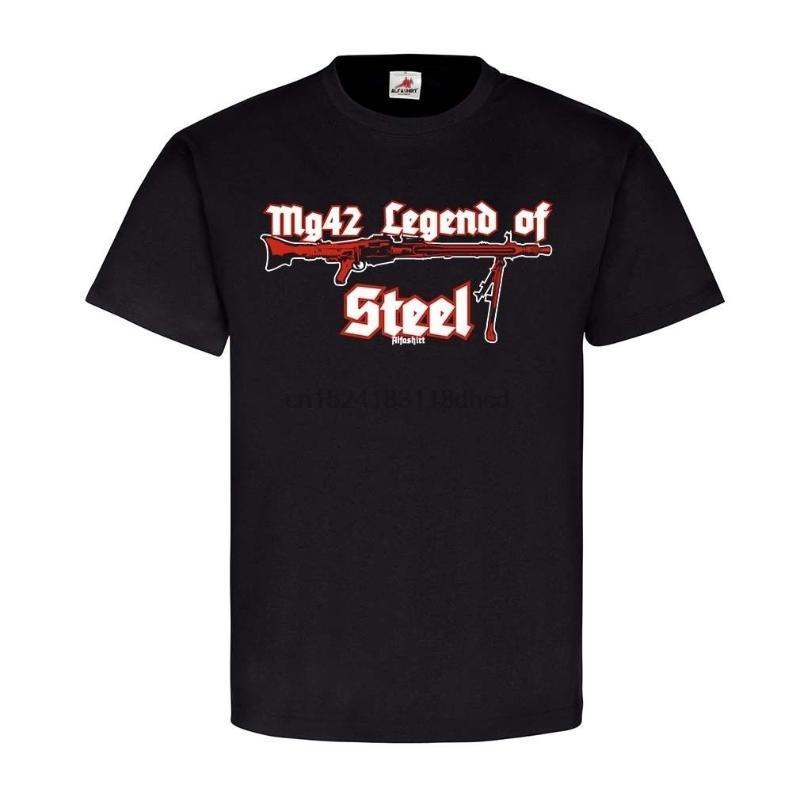Camisetas para hombre de acero MG42 MASCHINGEWEHR WH DEKO WAFFE LAUF VERSCHLUSS WK2